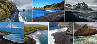 Extraordinary Black Sand Beaches Around the World
