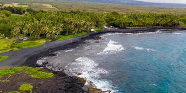 Punaluu Beach on the Big Island of Hawaii