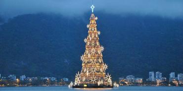 Floating Christmas Tree, Rio de Janeiro, Brazil