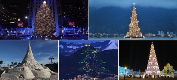 List of the Most Astounding Christmas Trees Around the World