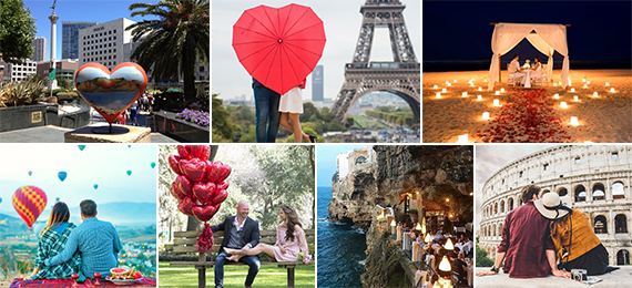 Seven Romantic Places for Valentine's Day