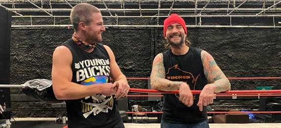 Stephen Amell and CMPunk