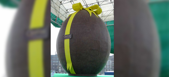 Eggs-Citing Facts about the World's Largest Chocolate Easter Egg!