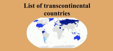 How Many Countries Are Transcontinental Countries?