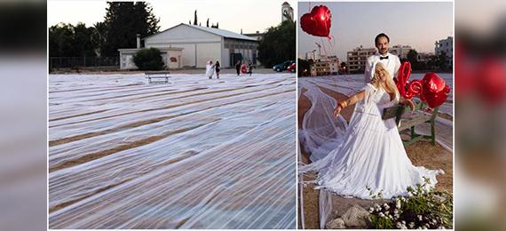 World's Longest Wedding Dress Train