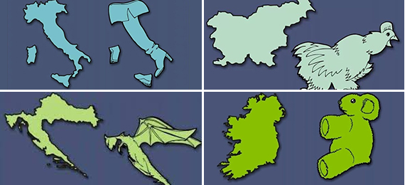 Country shape picture quiz
